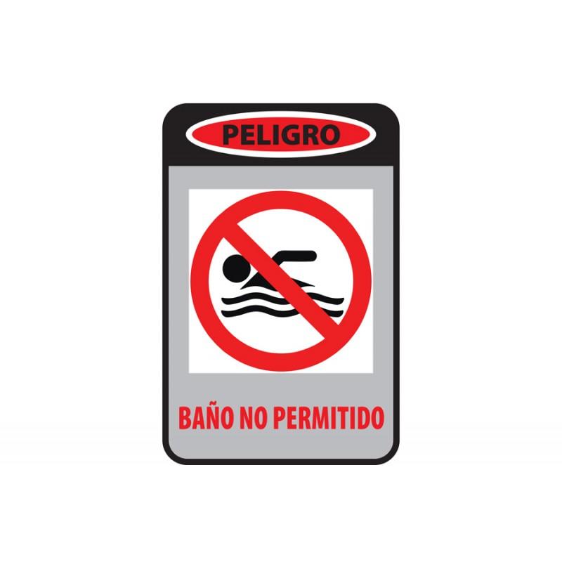 CARTEL BAÑO PROHIBIDO